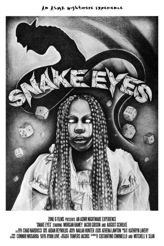 movie poster - Snake Eyes, An ASMR Nightmare