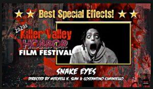 Best SFX - Snake Eyes - dir Mitchell V Slan and Costantino Ciminiello